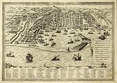 picture of messina  - Antique map of Messina the town of Sicily separated from Italy by the strait of the same name - JPG