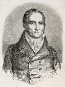 stock photo of short-story  - Antique engraved portrait of Johann Peter Hebel - JPG