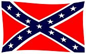 The Flag Of The Confederates During The American Civil War poster