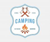 Outdoor Camping Adventure Is A Vector Illustration About Adventure And Exploration poster