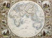 stock photo of eastern hemisphere  - Old map of Hemisphere oriental - JPG