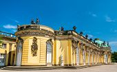 Sanssouci Palace, The Summer Palace Of Frederick The Great, King Of Prussia, In Potsdam Near Berlin, poster