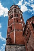 San Gottardo Bell Tower In Milan, Italy. Architect Francesco Pecorari From Cremona. The First Public poster