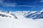 stock photo of winter landscape  - Winter landscape in the Jungfrau region - JPG