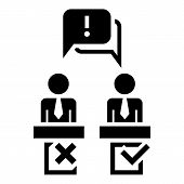 Political Debate Speech Icon. Simple Illustration Of Political Debate Speech Icon For Web Design Iso poster