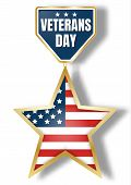Veterans Day Icon Logo. Realistic Illustration Of Veterans Day Icon Logo For Web Design Isolated On  poster