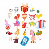 Entertainment For Kid Icons Set. Cartoon Set Of 25 Entertainment For Kid Vector Icons For Web Isolat poster