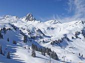 Постер, плакат: Склон на горнолыжный курорт Флумсерберге Швейцария