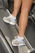 image of step aerobics  - Detail of a woman - JPG