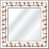 pic of funeral home  - illustration of a background with a mirror - JPG