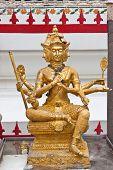 image of brahma  - Beauty of Brahma image at wat - JPG