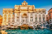 foto of stone sculpture  - Fountain di Trevi in Rome - JPG