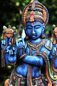 stock photo of krishna  - Hindu God Lord Krishna Statue  - JPG