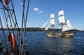 The Wooden Brig, Lady Washington, Sails On Lake Washington