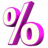 Purple Percent Symbol