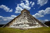 pic of castello brown  - a waild angle of the chichen itza temple - JPG