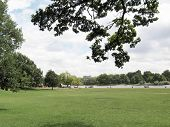stock photo of kensington  - Serpentine lake river in Hyde Park Kensington Gardens London UK - JPG