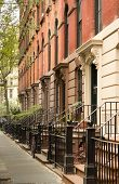 foto of brownstone  - These are apartments located in Greenwich Village Manhattan New York - JPG