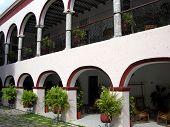 image of hacienda  - The exterior of XIX century hacienda in Mexico - JPG