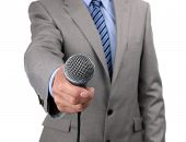 stock photo of emcee  - Businessman - JPG