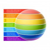 stock photo of hierarchy  - Sphere chart - JPG