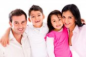 foto of family bonding  - Beautiful family portrait smiling  - JPG
