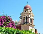 bell tower of the church in the town of Corfu, Greece, Europe