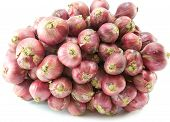 pic of red shallot  - Thai shallot is ingredient of thai food - JPG