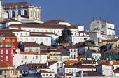 view of the old city of Coimbra in Portugal