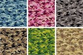 stock photo of camoflage  - Camouflage Vector Set - JPG