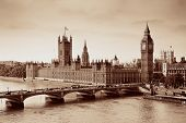 image of westminster bridge  - London Westminster with Big Ben and bridge - JPG