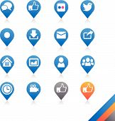 foto of social housing  - Social media icons vector  - JPG