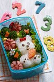 image of lunch box  - Bento box with school lunch for kids - JPG