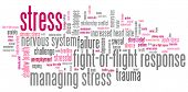 foto of stress relief  - Stress emotional issues and concepts word cloud illustration - JPG
