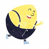 picture of nursery rhyme  - cartoon humpty dumpty egg character - JPG