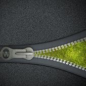 picture of zipper  - Conceptual image with zipper and nature landscape - JPG