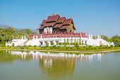 stock photo of royal botanic gardens  - Traditional Thai Lanna style architecture - JPG