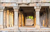 foto of khas  - Sandstone columns at Hauz Khas monument - JPG