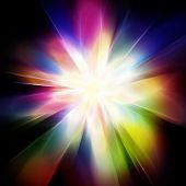 pic of aura  - illustration abstract rainbow aura light - JPG