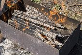 pic of brazier  - Brazier for frying in the open air - JPG