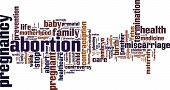 pic of abort  - Abortion word cloud concept - JPG