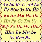 pic of pronunciation  - Alphabet of the russian language in beautiful frame - JPG