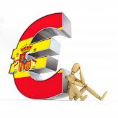 foto of spanish money  - doll - JPG