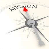 stock photo of compasses  - Mission compass image with hi - JPG