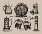 picture of drawing beer  - Beer set - JPG
