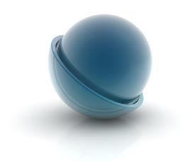 image of semi-circle  - glass sphere in a semi - JPG