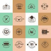 picture of food logo  - Vintage bakery badges - JPG