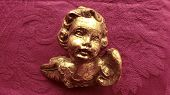 picture of figurines  - Antiques Angels Baroque Figurine Decoration Arts Golden - JPG