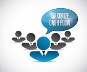 pic of maxim  - maximize cash flow team sign illustration design over white background - JPG