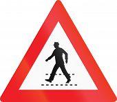 foto of priorities  - Austrian danger warning sign - JPG